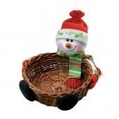 Darčekový košík so snehuliakom