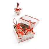 Ozdoby na vianočný stromček - 4 kusy