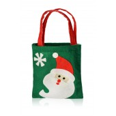 Felt hristmas bag with Santa Claus