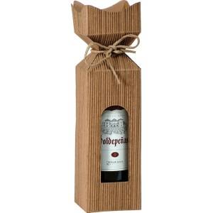 Krabica na víno jemne pozlátená