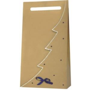 Papierová taška na 3 vína s modrými guličkami