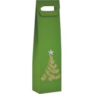 Vianočná taška na víno so stromčekom