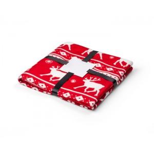 Vianočná deka RENO červená