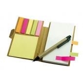 Zápisník s perom a samolepiacimi bločkami