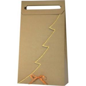 Papierová taška na 3 vína so zlatým lemom