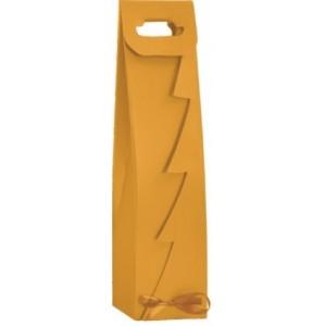 Papierová taška na víno zlatá