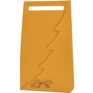Papierová taška na 3 vína zlatá